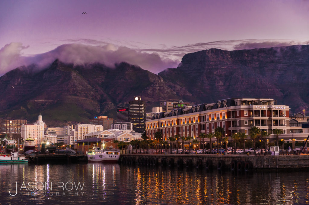 Evening in Cape Town Harbour. Taken on a summer's evening in 2009