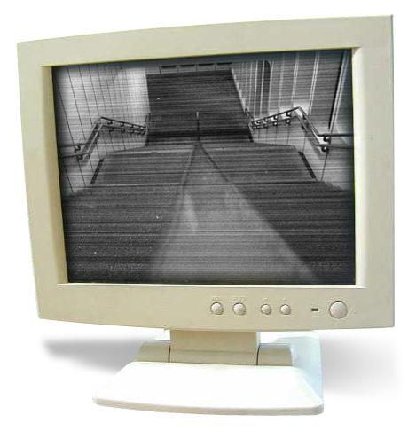 a monitor observing the U1 Kaisermühlen-Vienna International Centre