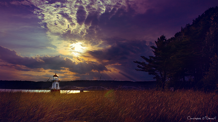 Doubling Point Light in Arrowsic, Maine. Photo by Christopher O'Donnell.