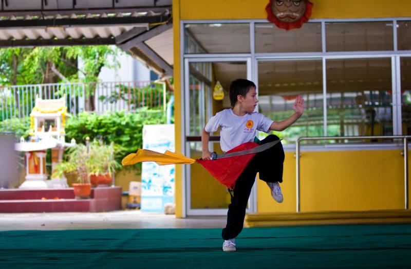 Shaolin kungfu student