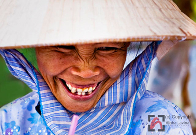 Giggling woman by Aloha Lavina. All rights reserved.