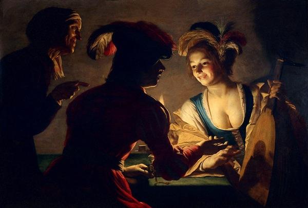 Gerrit van Honthorst De koppelaarster