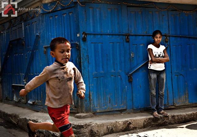 running boy in Nepal copyright Aloha Lavina.