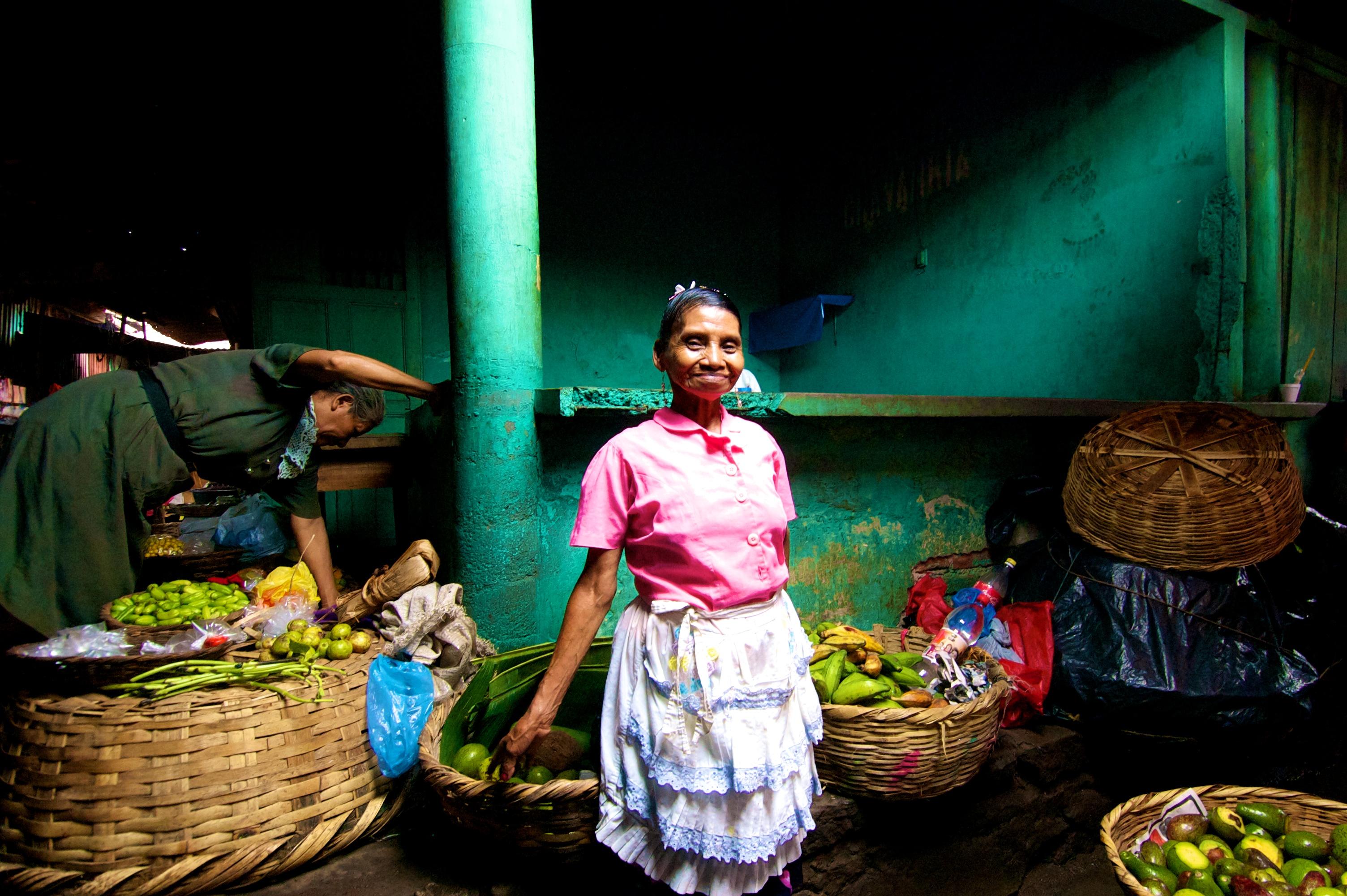 Beautiful lighting in Granada market in Nicaragua