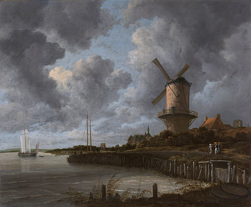 The Windmill at Wijk bij Duurstede 1670 Ruisdael [Public domain], by Jacob Isaakszoon van Ruisdael (1628/1629–1682)