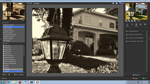Topaz B&W Screen-shot