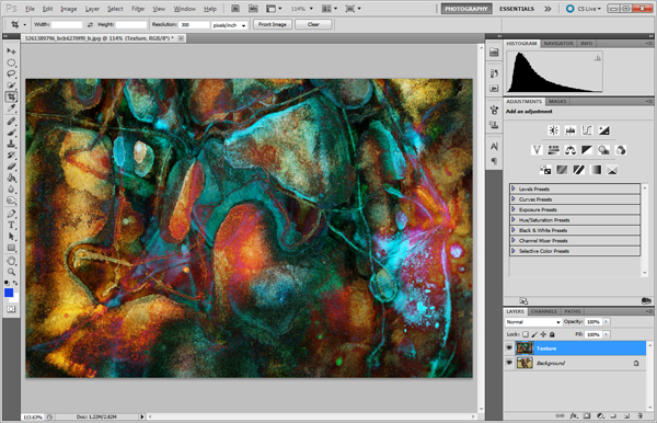 2 Layers Background and Texture