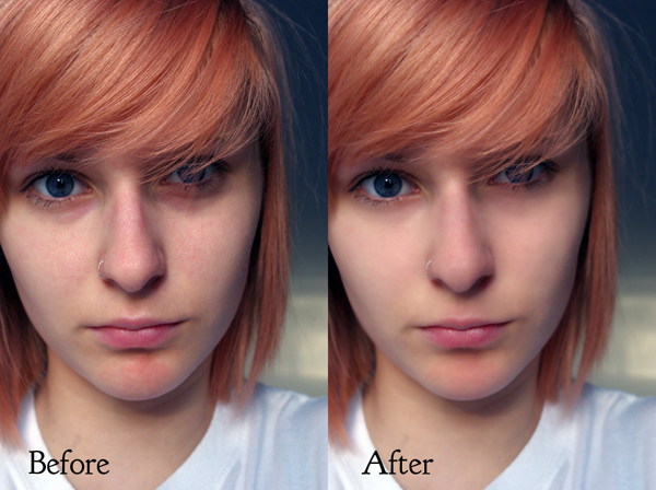 Before After Portrait enhance