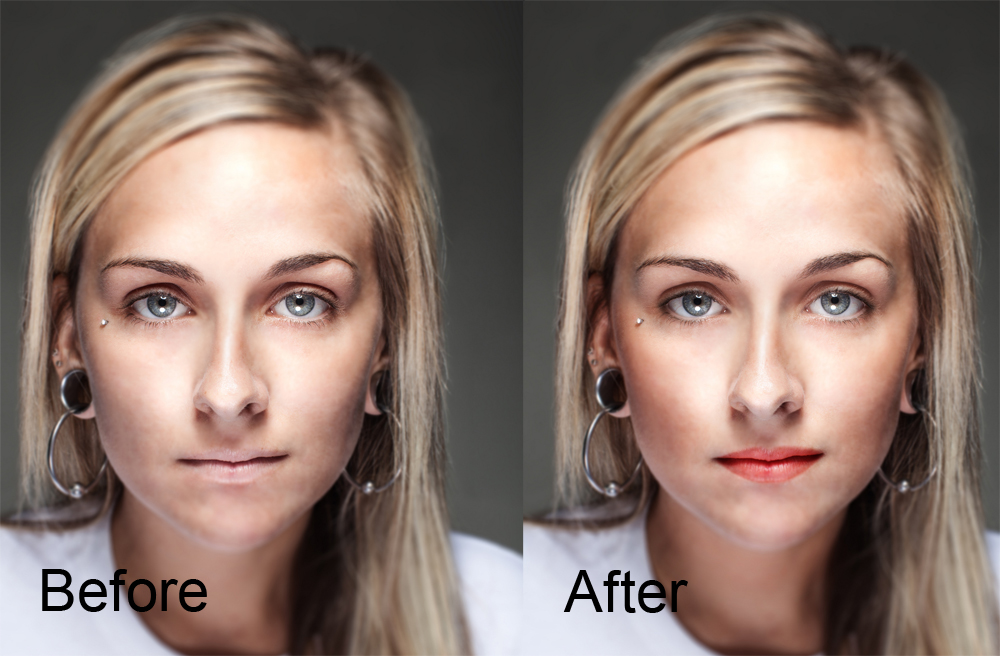 makeup Photoshop before and after