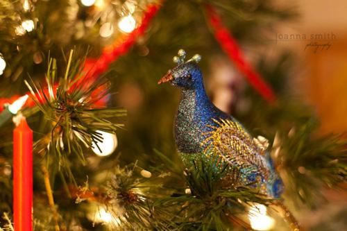 Glittery Bird Ornament