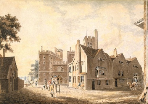 A View of the Archbishop's Palace, Lambeth; J. M. W. Turner