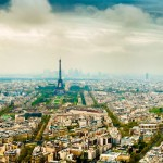 After lots of editing, the hazy Paris panorama took a nice grungy look.