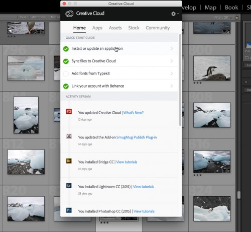 The Creative Cloud App in Use