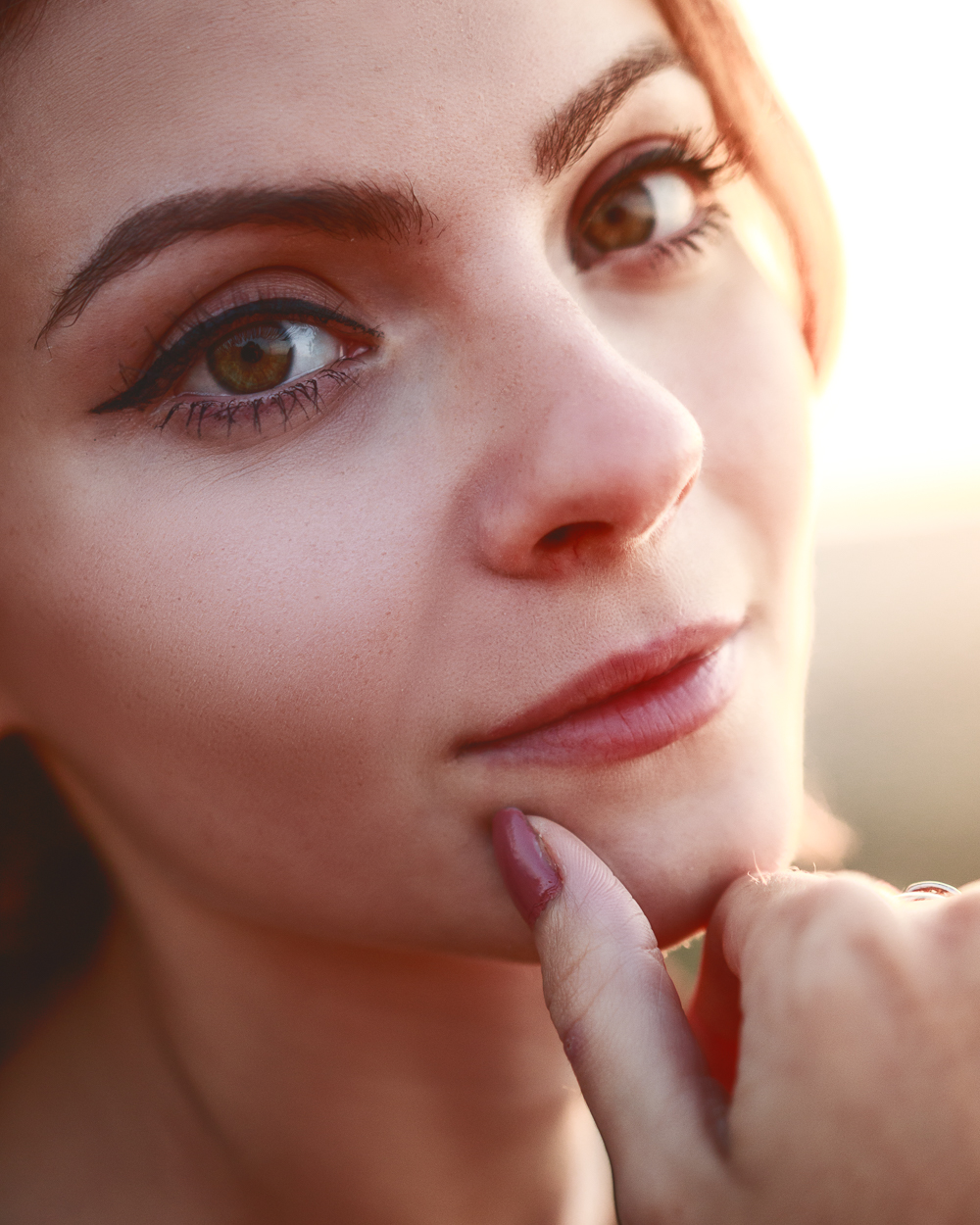 Classic close up portrait during golden hour. Photo by Dzvonko Petrovski. All rights reserved.