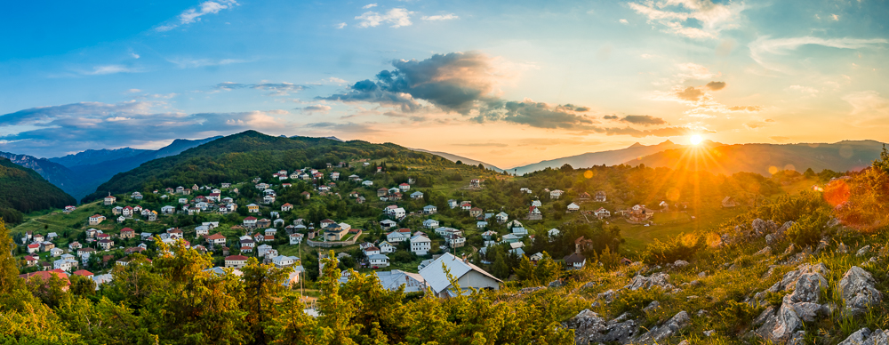 HDR panorama during golden hour. Photo by Dzvonko Petrovski. All rights reserved.