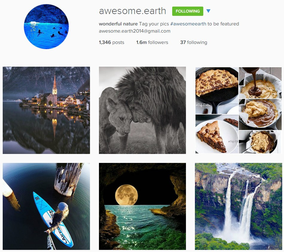 One account that features nature photographs with great amount of followers. In order to have a chance to be featured you need to tag your image accordingly.