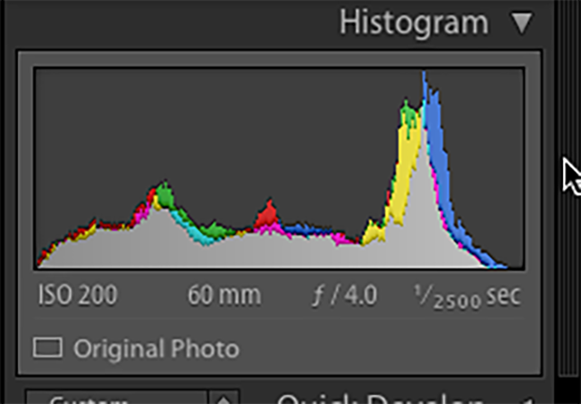 Although Lightroom's Histogram, you in camera version is equally important