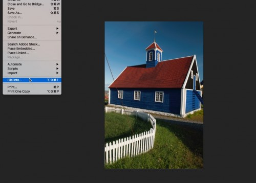 Adding personal data in Photoshop