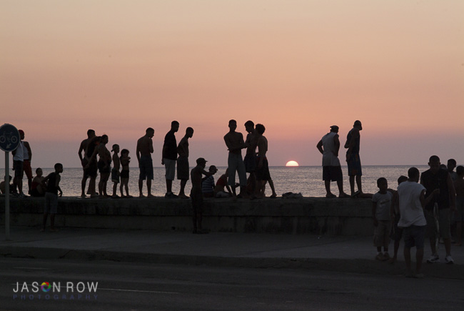 Sunset on the Malecon in Havana