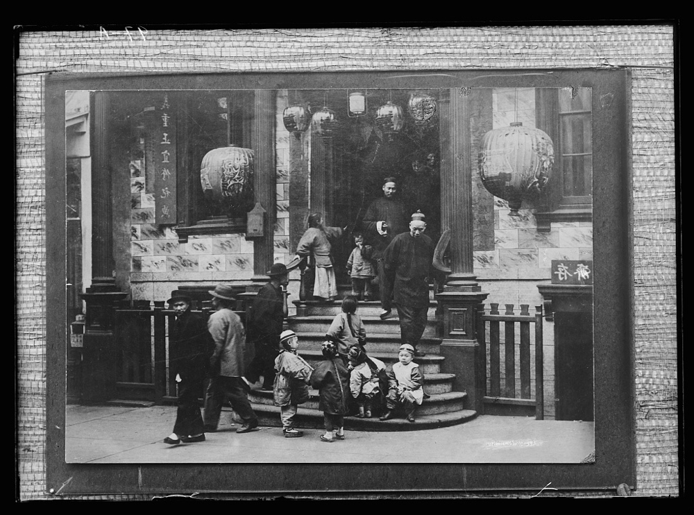 In front of the Joss House, Chinatown, San Francisco