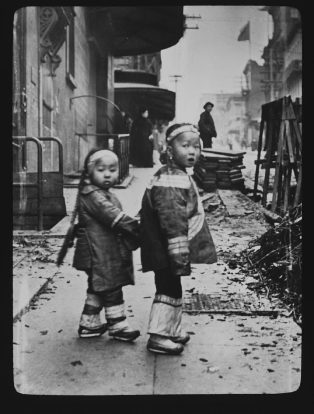 Their first photograph, Chinatown, San Francisco