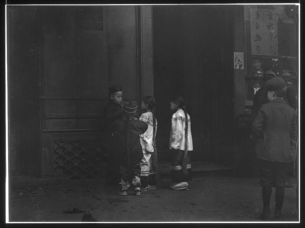 His first cigar, Chinatown, San Francisco