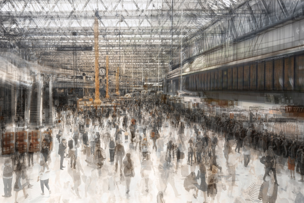 Urban Etching Passengers - Image by Grant Legassick