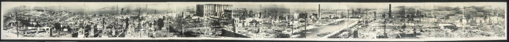 Panorama of San Francisco disaster
