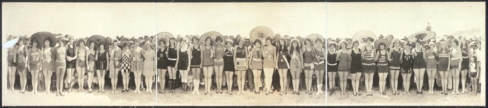 Bathing Beauty Pageant, 1925, Huntington Beach, Calif.