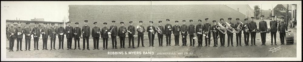 Robbins & Myers Band, Springfield, O., May 5th, 1917
