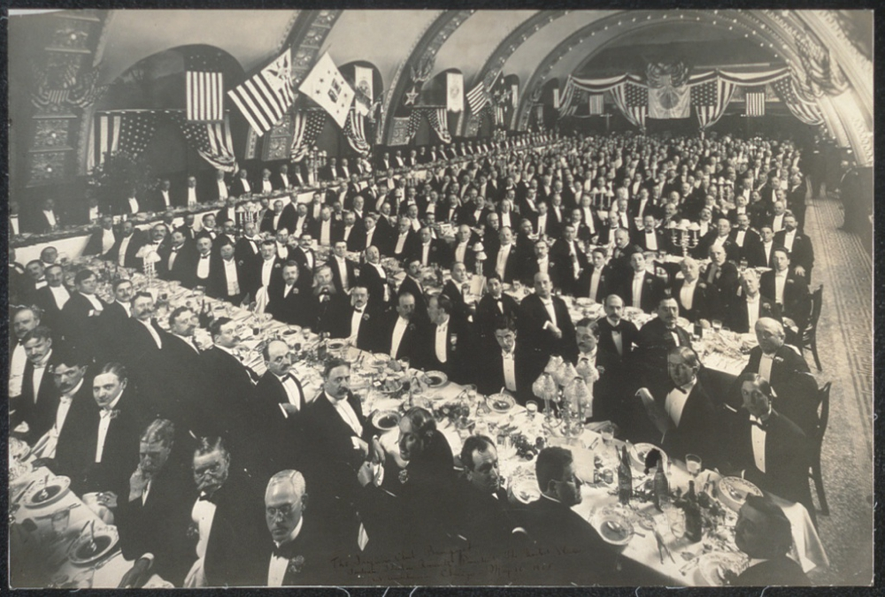 The Iroquois Club Banquet, tendered, Theodore Roosevelt, President, the United States, at Auditorium, Chicago, May 10, 1905