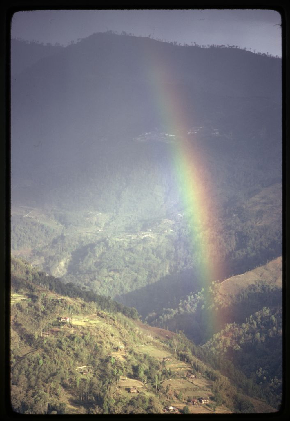 Rainbow in the mountains of Lachung, Sikkim