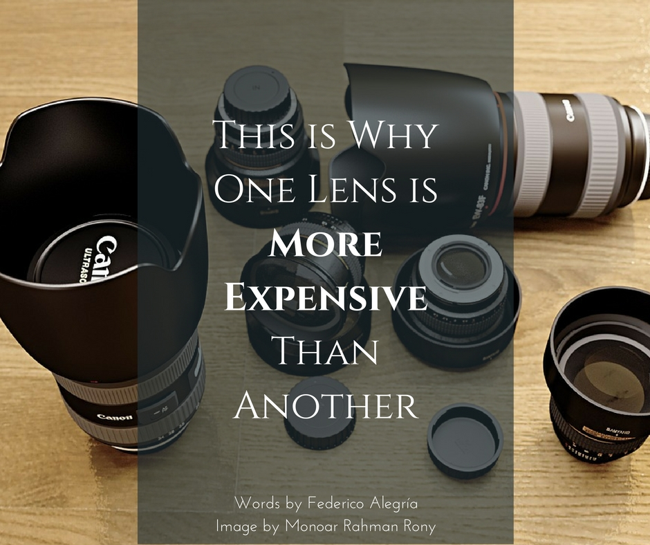 what makes a camera lens expensive