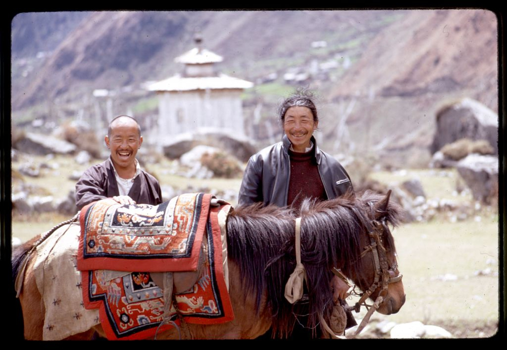 Two brothers and horse, Sikkim