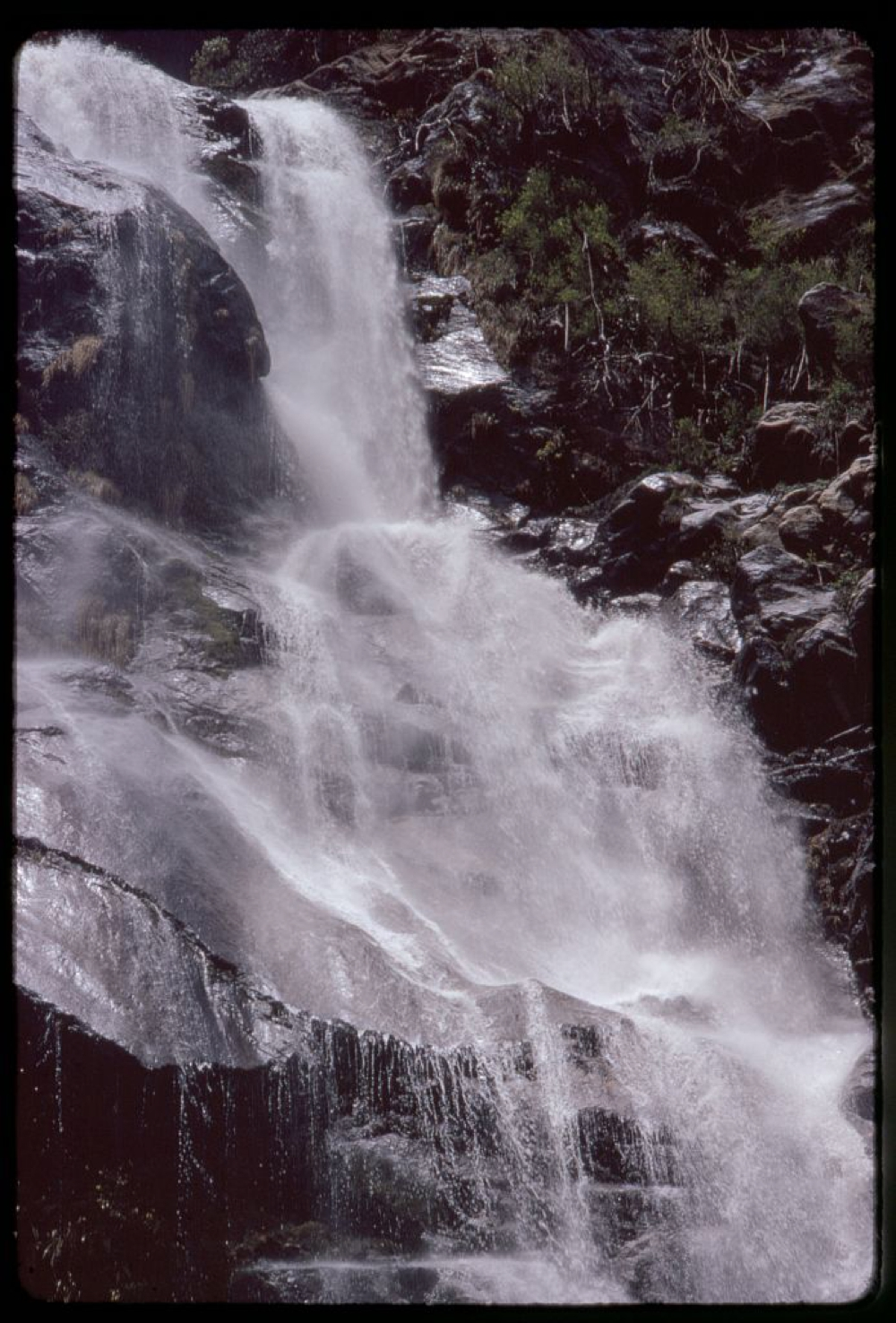 Waterfall, typical of Sikkim