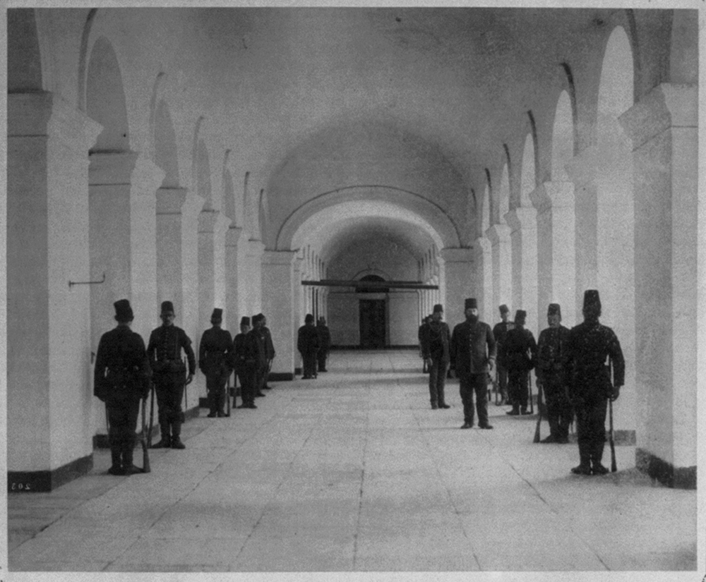 [Interior of the Mecidiye Barracks] / Abdullah Frères, Phot., Constantinople