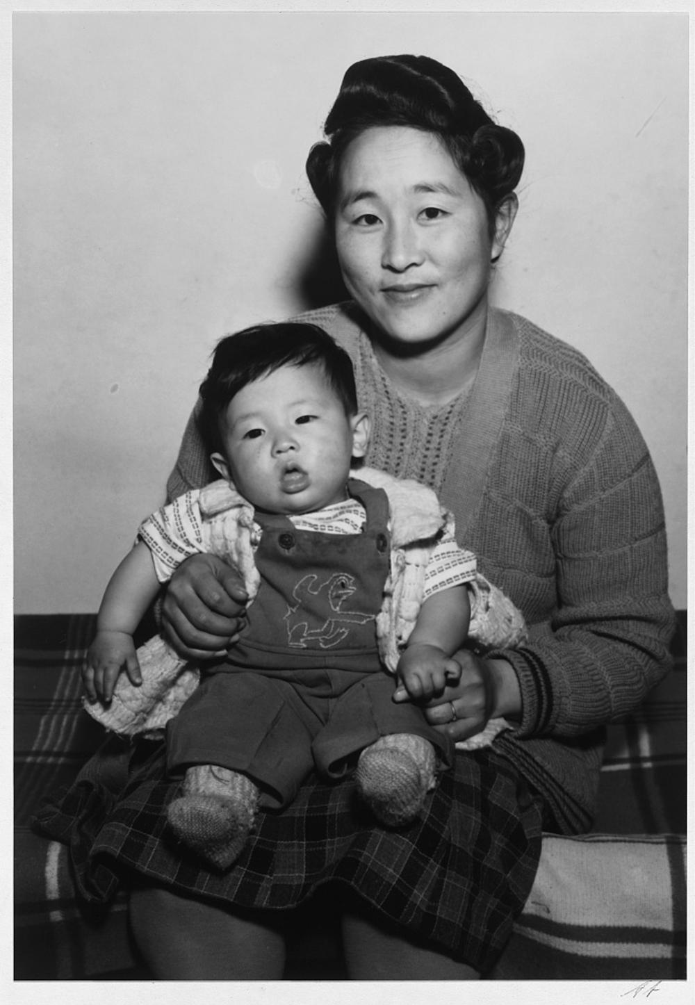 Mitsu Nakai and baby
