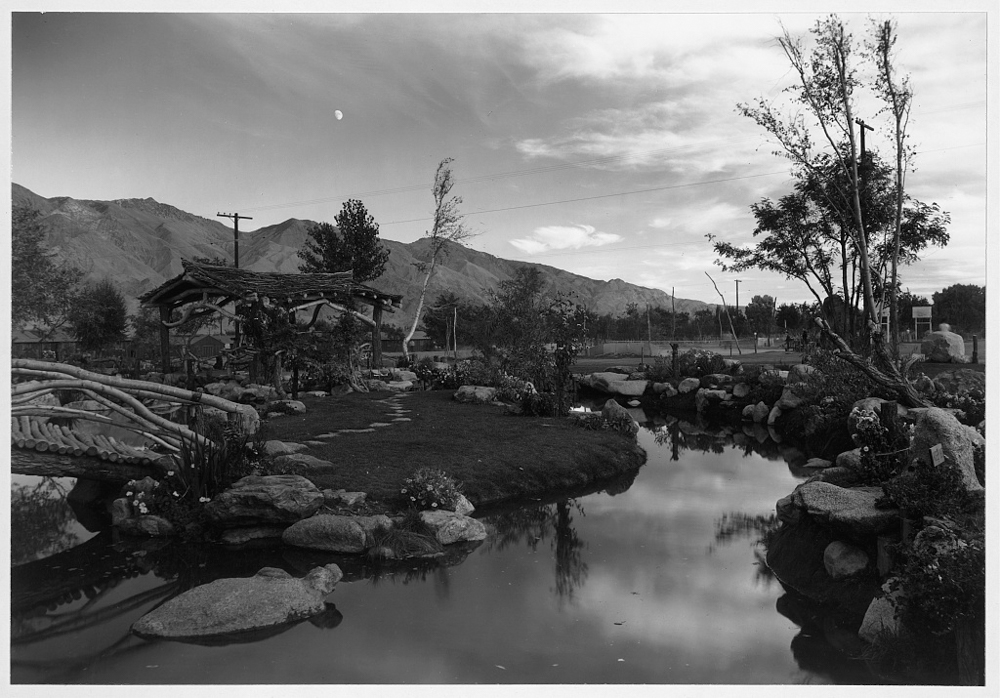 Pool in pleasure park, Manzanar Relocation Center, Calif.