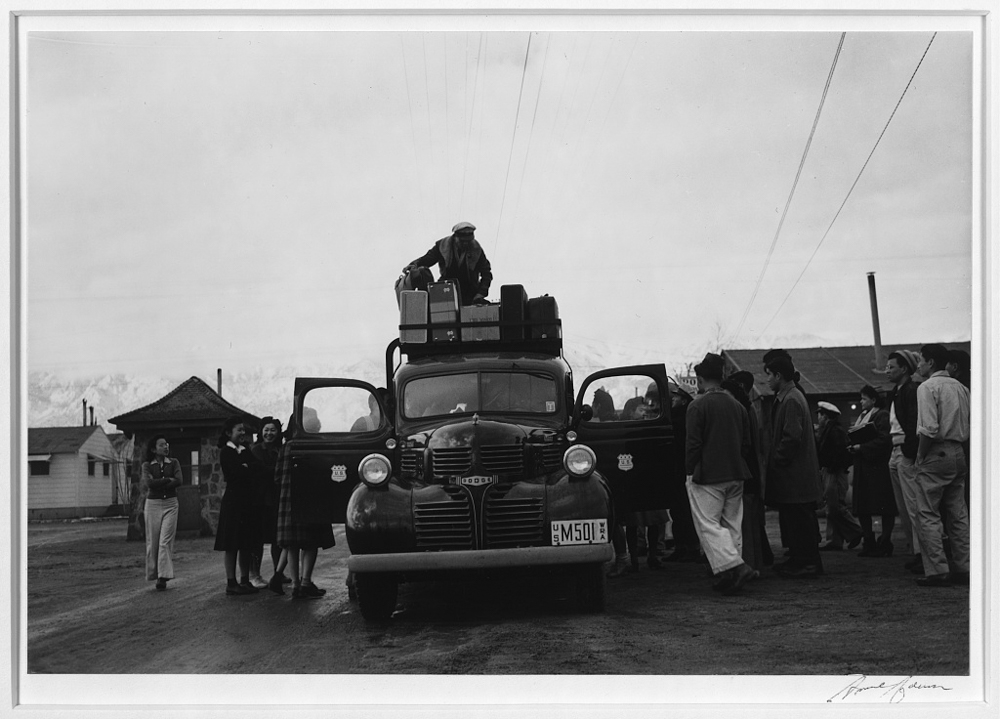 Relocation: Packing up, Manzanar Relocation Center