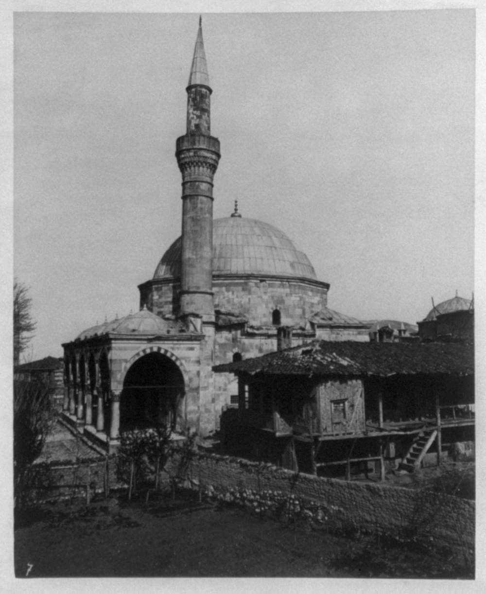 [View of a mosque in Eskişehir] / Constantinople, Abdullah Frères