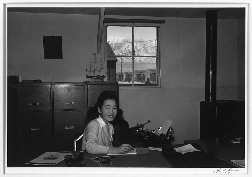 Yoshiko Joan Mori, stenographer in Education Office, Manzanar Relocation Center