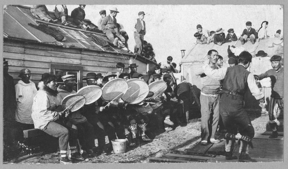 An Eskimo dance near Nome