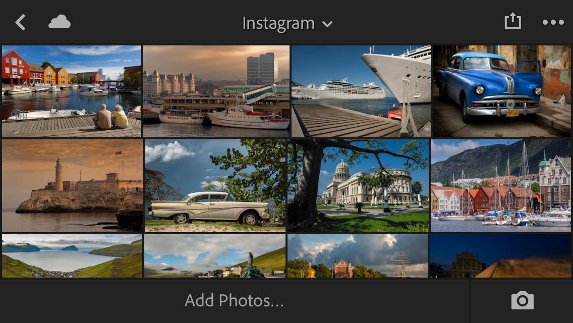 images on Instagram using Lightroom Mobile