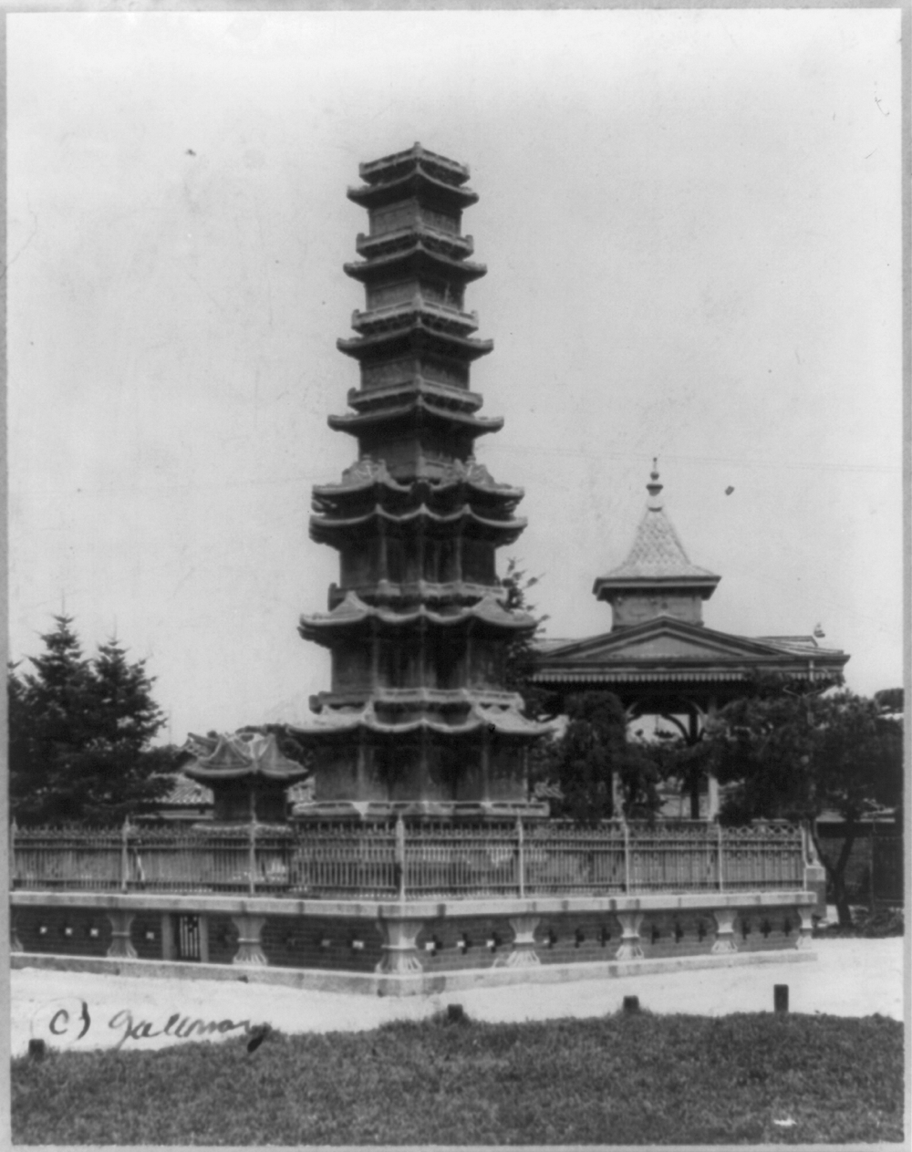 Marble pagoda, which is a Buddhist monument