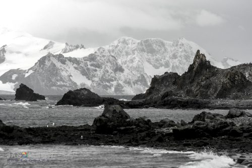 Compressed perspective in Antarctica using a 180mm lens