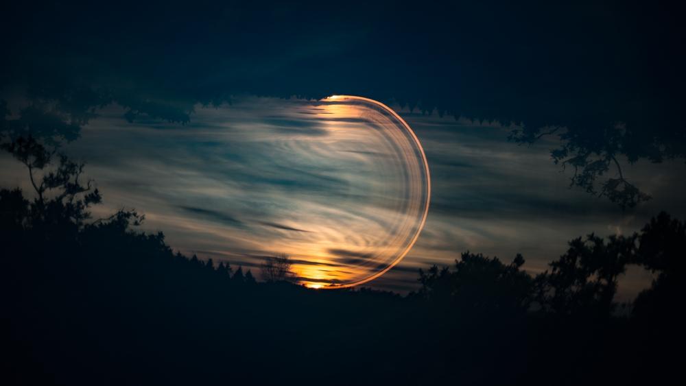 Half Rotation at Sunset