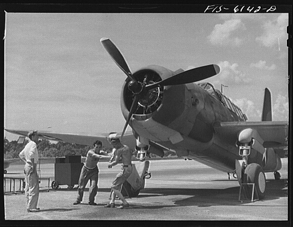 Nashville, Tennessee. Vengeance bomber on the field
