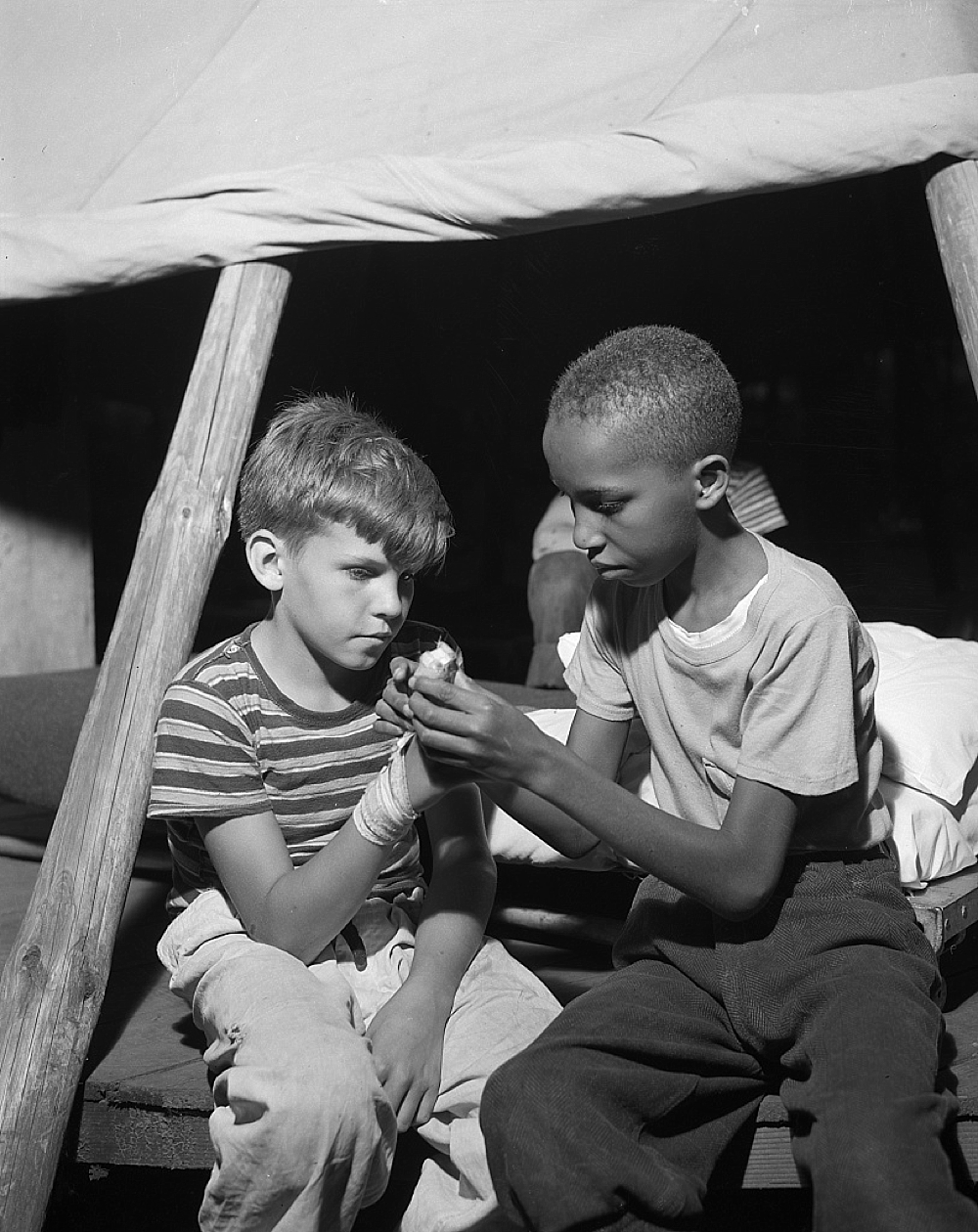 Southfields, New York. Interracial activities at camp Nathan Hale