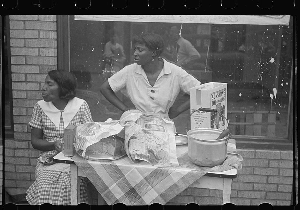 Women selling ice cream and cake