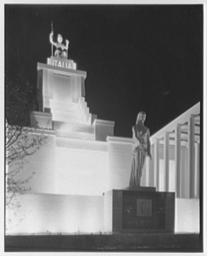 World's Fair night views. Italian Building